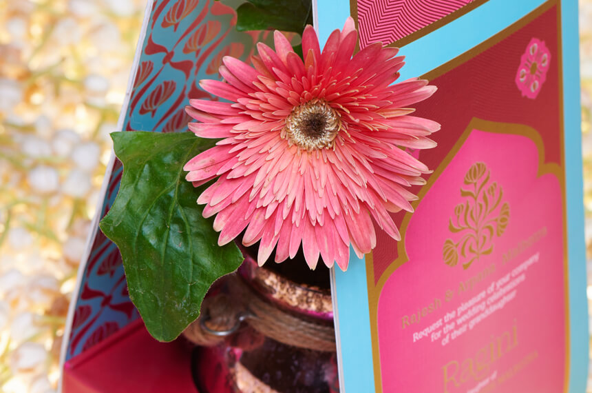 Flower carrier invitation card